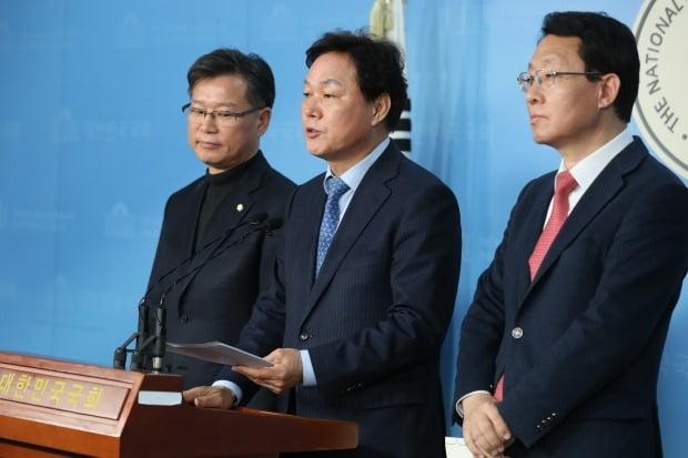 자유한국당 박완수 사무총장이 20일 국회 정론관에서 새로운보수당이 제시한 양당협의체에 수용 의사를 밝히고 있다. /사진=연합뉴스