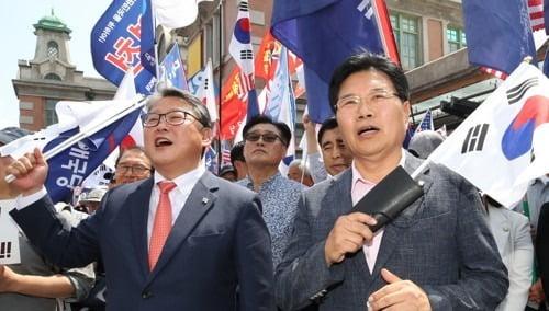 조원진, 홍문종 우리공화당 공동대표. 사진 연합뉴스