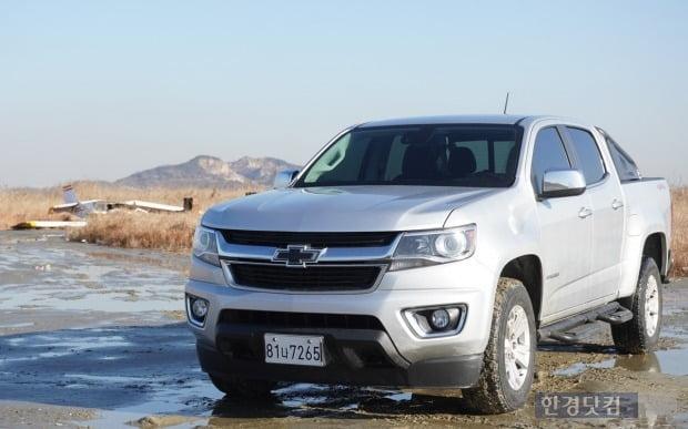 한국수입자동차협회는 한국GM의 픽업트럭 쉐보레 콜로라도가 1월 1036대 팔린 것으로 집계했다. 사진=오세성 한경닷컴 기자