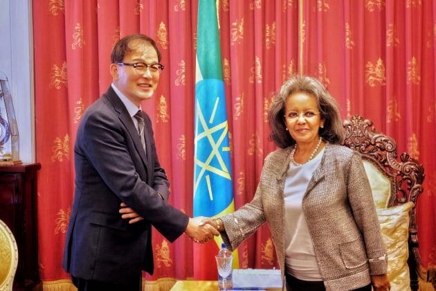 박종호 산림청장, 에티오피아 대통령 예방 P4G 파트너십 사업 논의