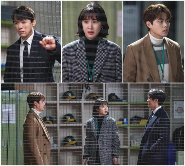 '스토브리그' 남궁민, 박은빈, 조병규 /사진=SBS 제공