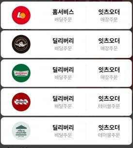 롯데지알에스가 출시한 '잇츠오더' 앱에서는 5개 브랜드의 배달 및 테이블 주문이 가능하다.