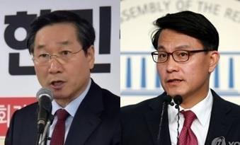 유정복 전 인천시장(왼쪽)과 윤상현 의원 [사진=연합뉴스]