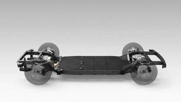 카누가 보유한 전기차용 스케이트보드 플랫폼. 사진=현대차그룹