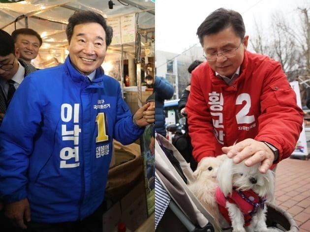 이낙연 전 총리(좌), 황교안 자유한국당 대표(우) [사진=연합뉴스]