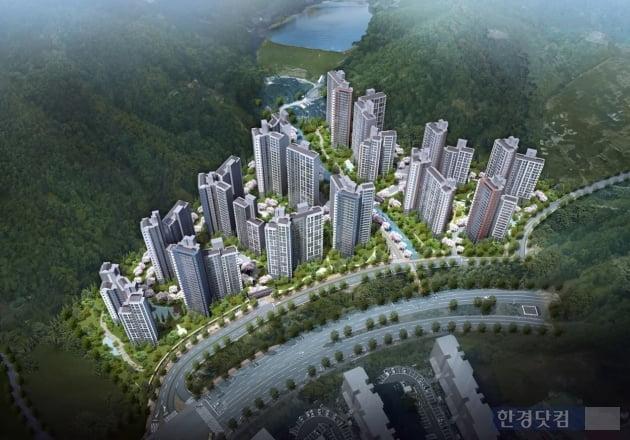 김해 장유 지역주택조합 아파트 조감도 (자료 대우산업개발)