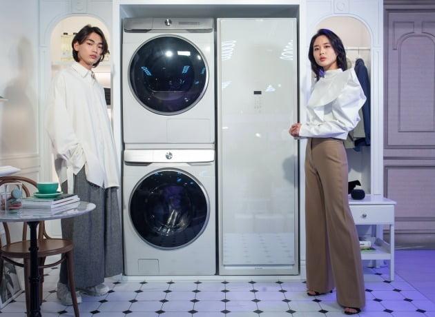 삼성 '그랑데 AI'. 하단부터 세탁기, 건조기/사진제공=삼성전자