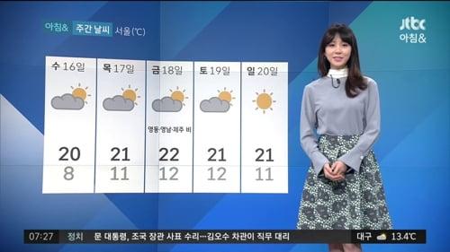 /사진=JTBC '아침&' 김민아 기상캐스터 영상 캡처