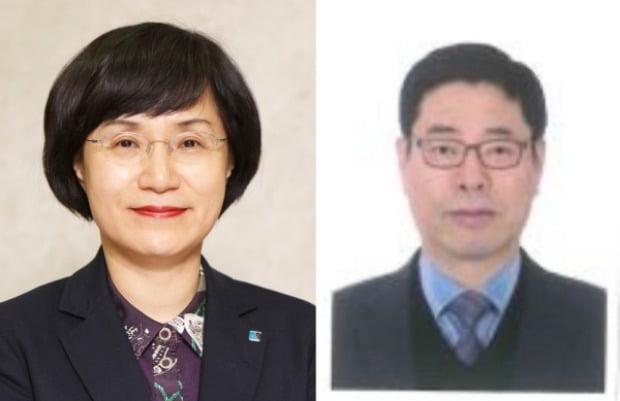 권선주 전 기업은행장(왼쪽)과 오규택 중앙대 경영경제대학 교수.(사진=KB금융지주)