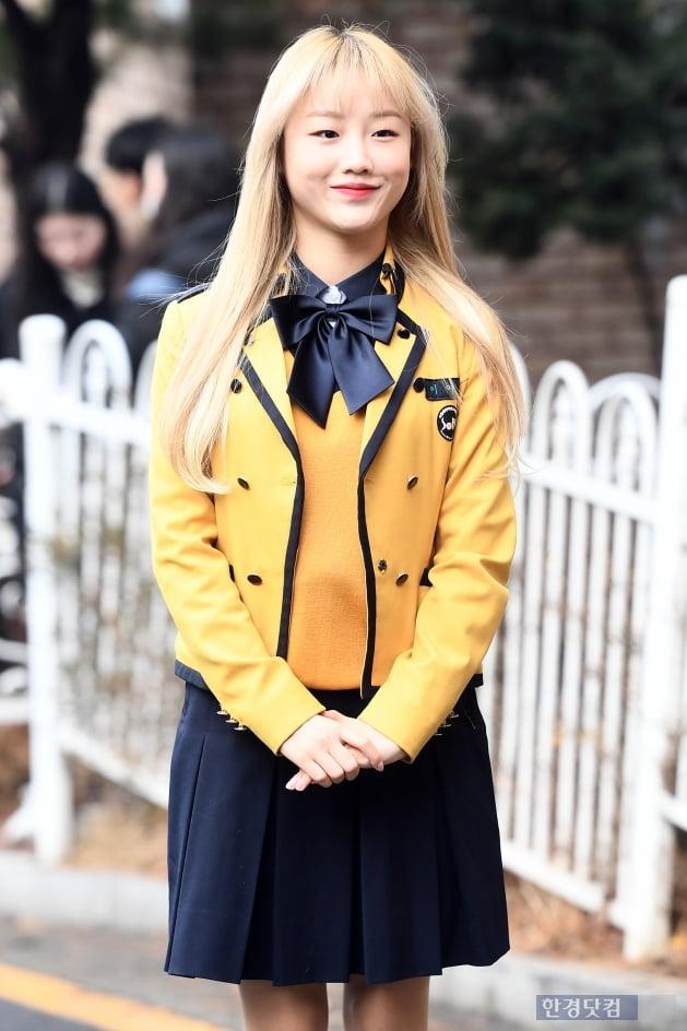 [포토] 소녀주의보 구슬, '교복 입고 깜찍하게~'