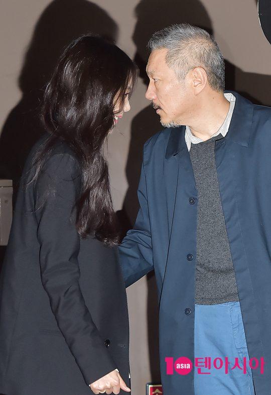 배우 김민희(왼쪽)와 홍상수 감독. /사진=텐아시아DB