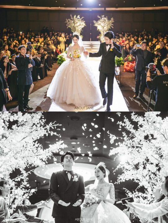장기영, 박혜정 부부의 본식 화보. /사진제공=해피메리드컴퍼니