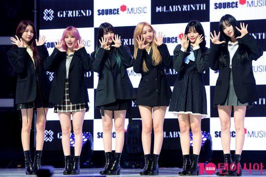그룹 여자친구 소원(왼쪽부터), 은하, 예린, 신비, 엄지, 유주. / 서예진 기자 yejin@
