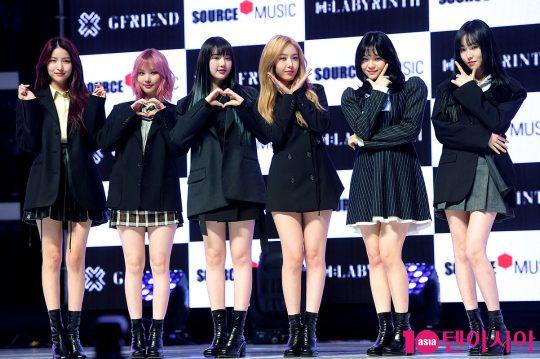 그룹 여자친구 소원(왼쪽부터), 은하, 예린, 신비, 엄지, 유주. / 서예진 기자 yejin@ㅕ자