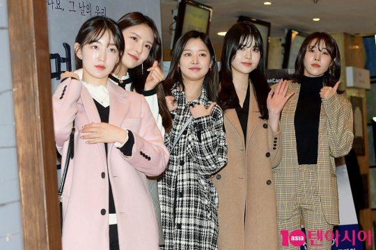 구구단 하나(왼쪽부터), 나영, 미미, 소이, 해빈