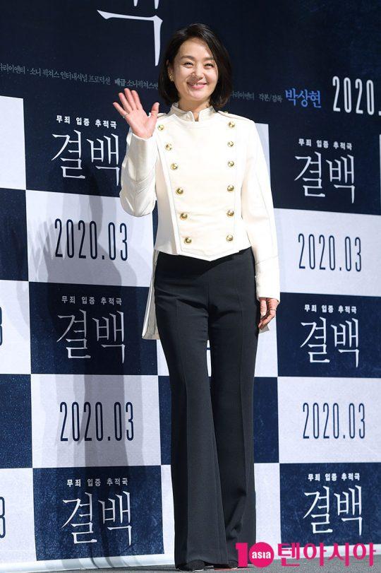배우 배종옥이 6일 오전 서울 신사동 CGV압구정에서 열린 영화 '결백' 제작보고회에 참석했다. / 서예진 기자 yejin@