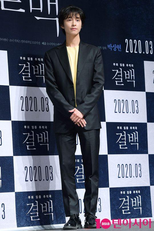 배우 홍경이 6일 오전 서울 신사동 CGV압구정에서 열린 영화 '결백' 제작보고회에 참석했다. / 서예진 기자 yejin@