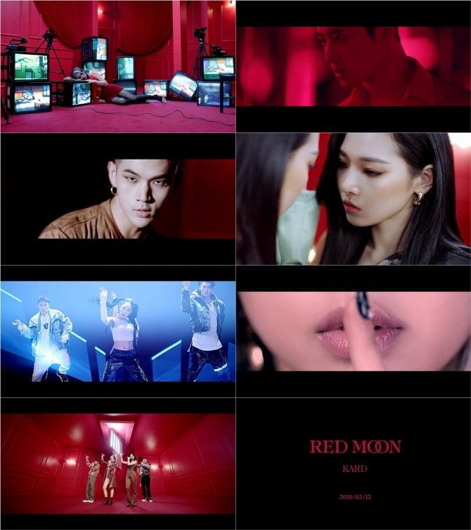 KARD, 새 감각 품은 `레드 문` 뮤직비디오 티저…`강렬 컴백` 예고