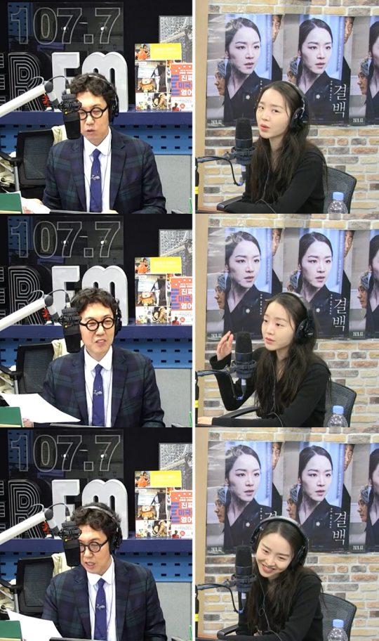 SBS 파워FM '김영철의 파워FM'에 게스트로 출연한 배우 신혜선. /사진=방송 캡처