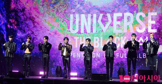 그룹 펜타곤 신원(왼쪽부터), 홍석, 키노, 후이, 진호, 여원, 유토, 우석