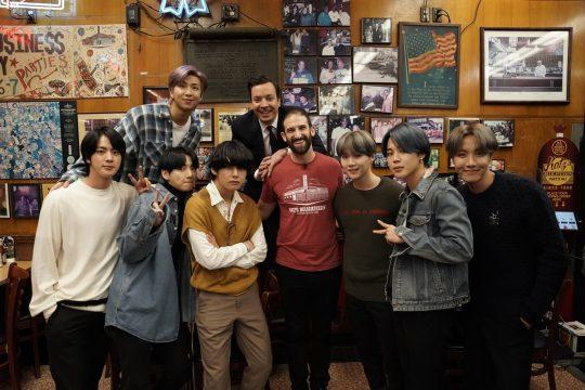 그룹 방탄소년단, 지미 팰런. / 제공=Andrew Lipovsky, NBC