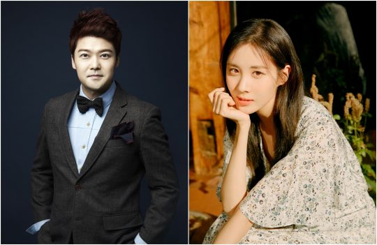 방송인 전현무(왼쪽), 배우 서현. / 제공=SM C&C, 나무엑터스