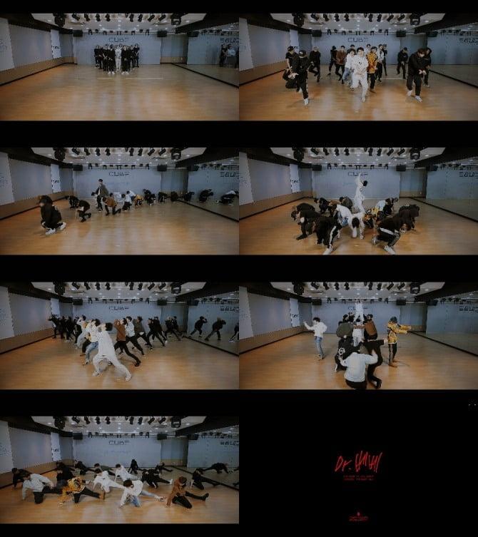 펜타곤, 신곡 `Dr. 베베` 안무 연습 영상 공개…블랙홀 같은 강렬 퍼포먼스