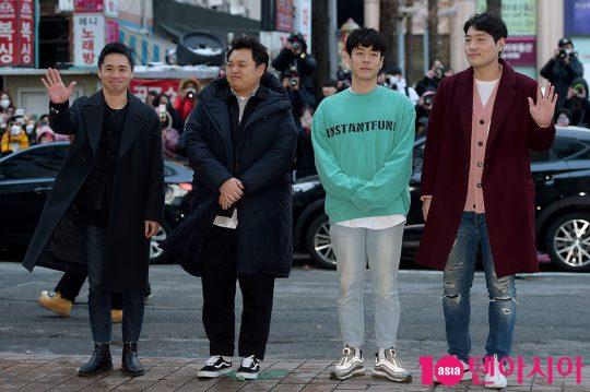 배우 임철수(왼쪽부터), 고규필, 권동호, 홍우진