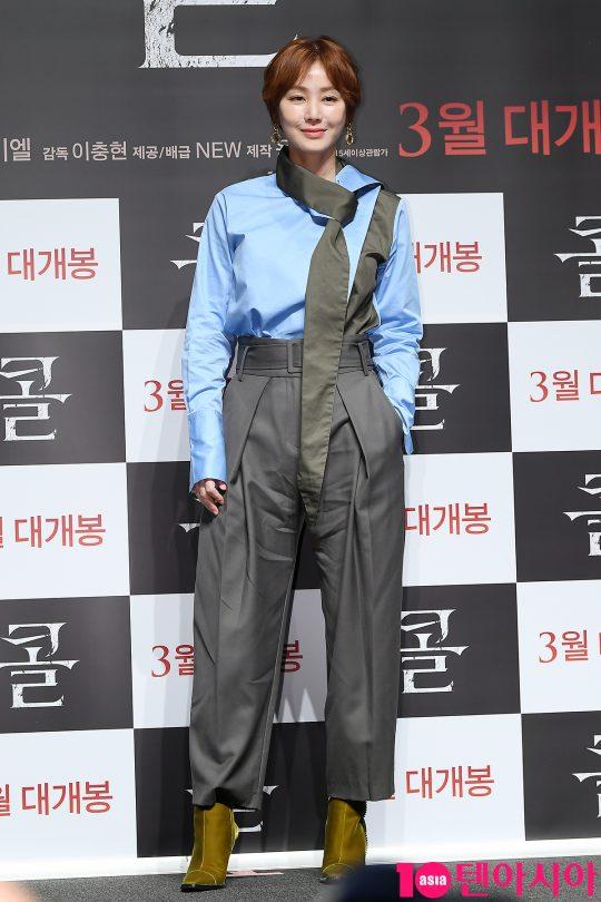 배우 김성령이 17일 오전 서울 신사동 CGV압구정에서 열린 영화 '콜' 제작보고회에 참석했다./이승현 기자 lsh87@