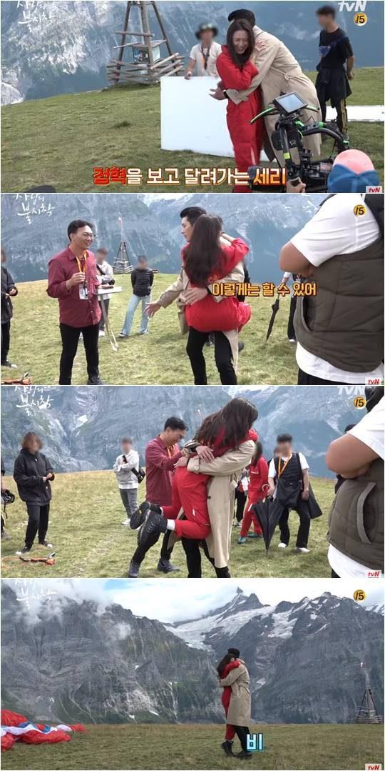 tvN 드라마 '사랑의 불시착' 비하인드 메이킹 캡처.