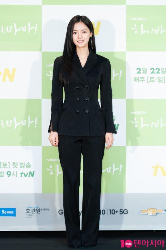 배우 고보결이 18일 CJ ENM센터에서 열린 tvN 새 토일드라마 '하이바이, 마마' 제작발표회에 참석했다./사진제공=tvN
