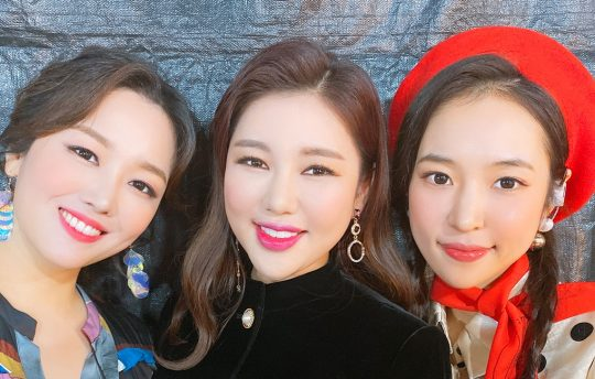가수 정미애, 송가인, 홍자 / 사진제공=포켓돌스튜디오