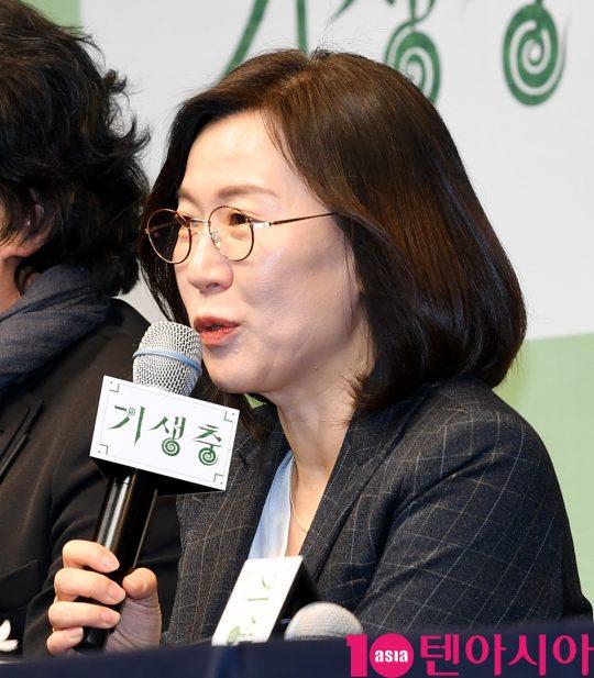 "[TEN PHOTO]곽신애 대표 ""기생충 많은 관심에 감사합니다"""