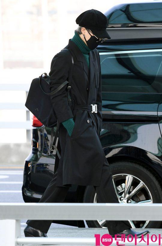 그룹 방탄소년단(BTS)(RM, 슈가, 진, 제이홉, 지민, 뷔, 정국) 지민이 20일 오전 미국 NBC 방송의 토크쇼 '투데이 쇼(TODAY SHOW)' 참석차 인천국제공항을 통해 미국 뉴욕으로 출국하고 있다.