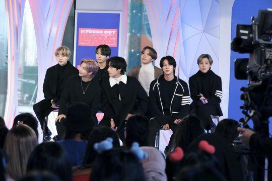 'MTV FRESH OUT'에 출연한 방탄소년단. /사진제공=빅히트엔터테인먼트