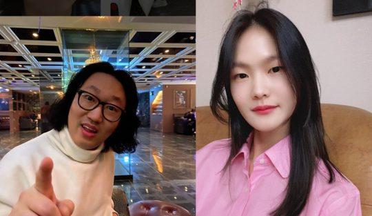 코미디언 김경진(왼쪽), 모델 전수민. / 김경진, 전수민 SNS