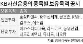 에스엠·골프존 등 6개 종목 '단순투자→일반투자'…주주행동 팔 걷은 KB운용