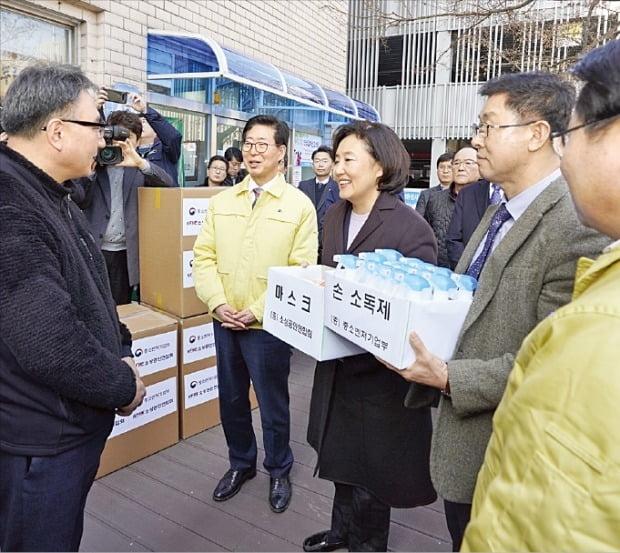 박영선 중기부장관, 신종 코로나 피해 현장 점검