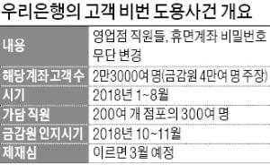 금감원, 우리은행 고객 비번도용 사건 검찰에 검사결과 넘긴다