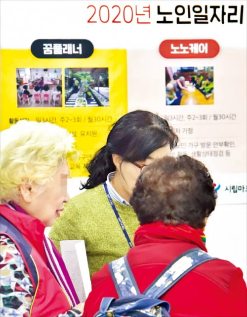 서울시 마포구가 지난해 12월 마포구청에서 개최한 '2020년 노인일자리 박람회'.  /한경 DB