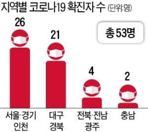 대구·경북 '코로나 패닉'…국내 확진자 53명으로 급증