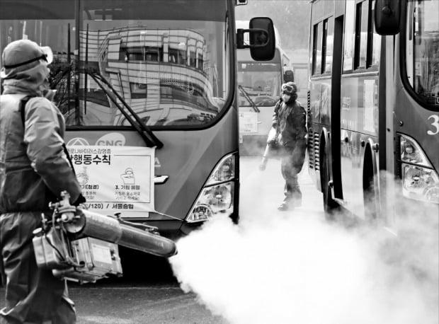 서울 시내버스 '코로나 방역'