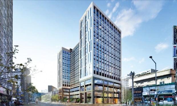 서울 청량리역 인근 미주상가B동을 개발해 짓는 오피스텔 '힐스테이트 청량리역'(가칭) 조감도. 이 오피스텔은 이르면 다음달 분양할 예정이다. /현대건설 제공