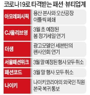아모레, 생산 임시중단…서울패션위크 취소