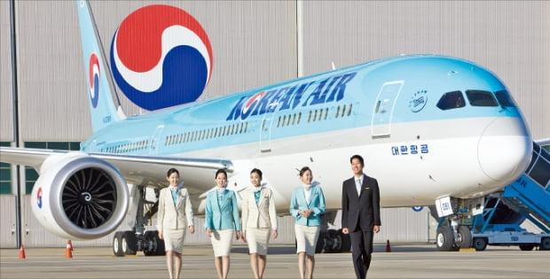 대한항공이 국내 항공사 최초로 도입한 보잉 787-9 드림라이너 기종.  대한항공 제공