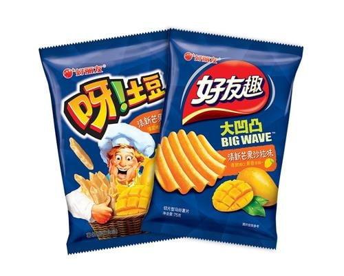 중국에서 인기를 끌고 있는 망고맛 감자스낵. (사진 = 한경DB)