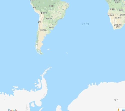 드레이크 해협 인근서 규모 5.5 지진