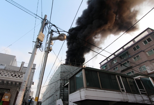 인천 용현동 빌라 신축 공사장서 불…인명 피해 없어
