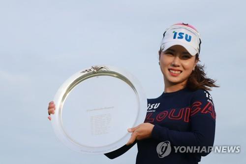 """[권훈의 골프산책] 7년 만에 LPGA 제패 박희영 """"떠밀려 은퇴하긴 싫었다"""""""