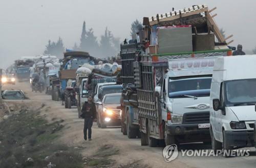 """유엔 """"시리아 북서부 내전으로 10주만에 난민 70만명"""""""